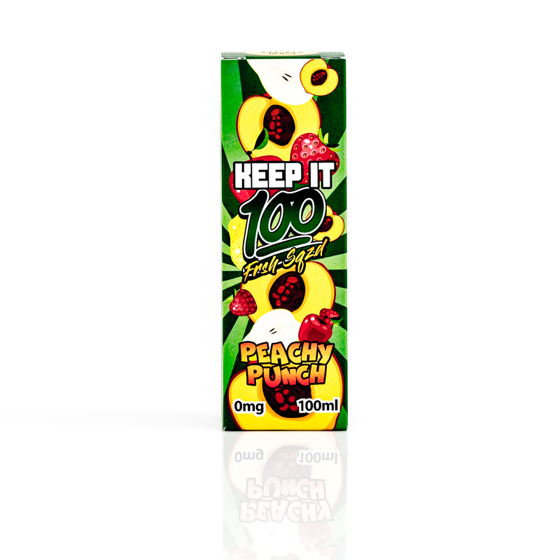 Peachy Punch Eliquid by Keep it 100