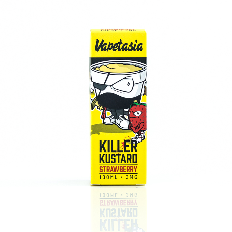 Killer Kustard Strawberry 100ml Eliquid by Vapetasia